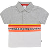 Grey & White Polo Shirt