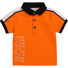 Load image into Gallery viewer, Baby Boys Orange Polo Shirt