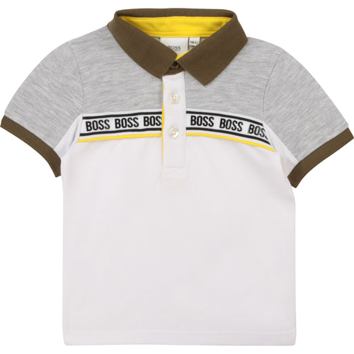 Grey White & Khaki Polo Shirt