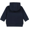 Navy Neon Stripe Zip Up Hoodie