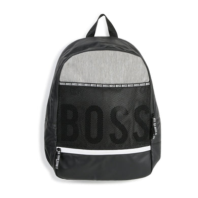 Black & Grey Logo Backpack