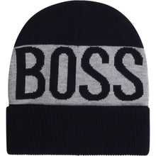 Load image into Gallery viewer, Navy & Grey BOSS Beanie