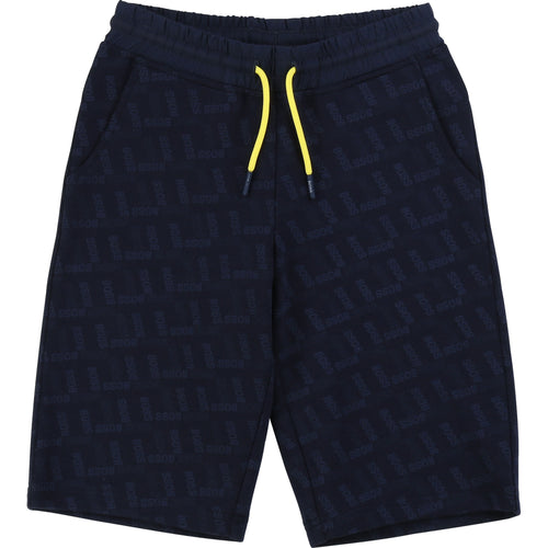 Navy Logo Sweat Shorts
