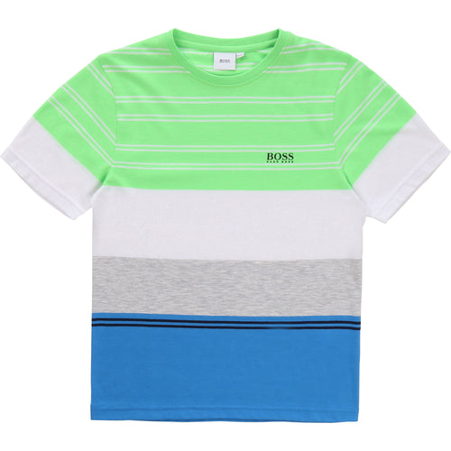 Neon Green Striped T-Shirt