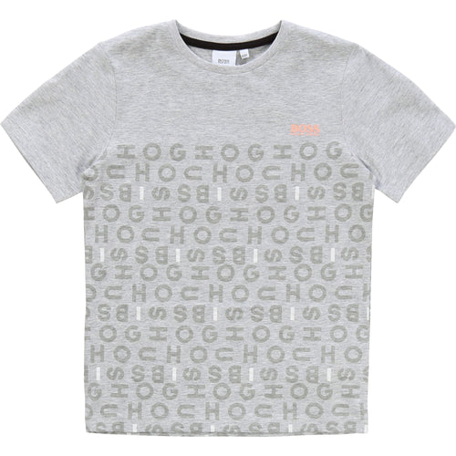 Grey Letter Logo T-Shirt