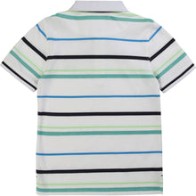 Load image into Gallery viewer, White Stripe Polo Shirt
