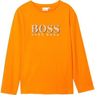 Boys Orange Logo Top