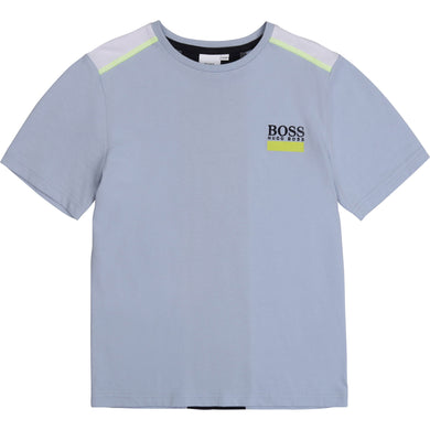 Blue & Lime Logo Back T-Shirt