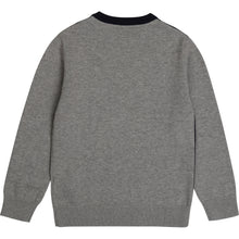 Load image into Gallery viewer, Navy & Grey Knitted Jumper