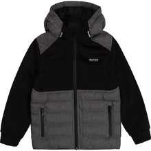 Load image into Gallery viewer, Black & Grey Padded Zip Up