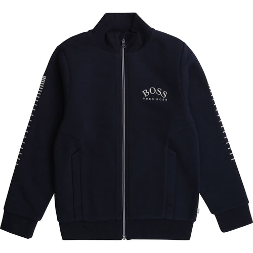 Navy Boss Zip Up