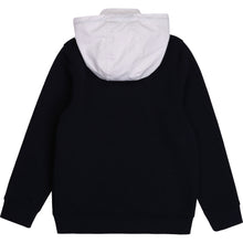Load image into Gallery viewer, Navy & White Nylon Mix Zip Up