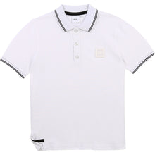 Load image into Gallery viewer, White Square Polo Shirt