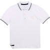 White Square Polo Shirt