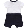 White & Navy Balloon Shortie