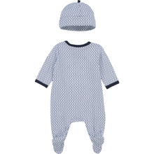 Load image into Gallery viewer, Navy Babygrow & Hat