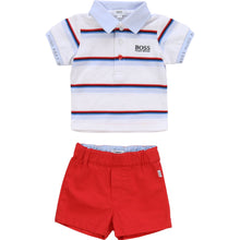 Load image into Gallery viewer, White & Red Shorts Gift Set