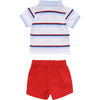 White & Red Shorts Gift Set