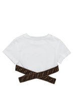 Load image into Gallery viewer, White Cropped FF Cross T-Shirt