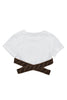 White Cropped FF Cross T-Shirt