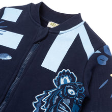 Load image into Gallery viewer, Navy Graphic Zip Up
