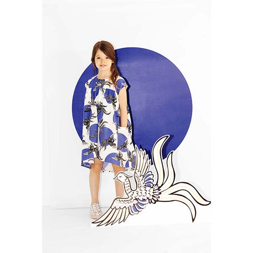 KENZO Blue & White Phoenix Dress