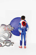 Load image into Gallery viewer, KENZO Boys Blue & White Dragon Jacket