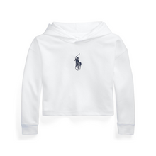 Load image into Gallery viewer, White Cropped Hoodie