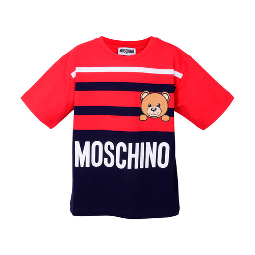 Red & Navy Stripe Toy Maxi T-Shirt