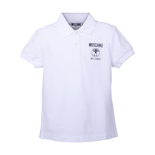 Load image into Gallery viewer, Boys White Milano Polo Shirt