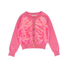 Load image into Gallery viewer, Pink 'Maggie' Sequin Cardigan