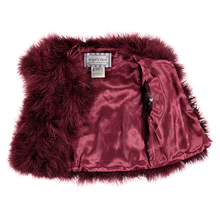 Load image into Gallery viewer, Burgundy 'Marabou' Feather Gilet