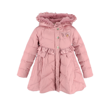 Load image into Gallery viewer, Pink Puffer 'Marian' Button Coat