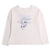 White & Blue Embroidered T-Shirt