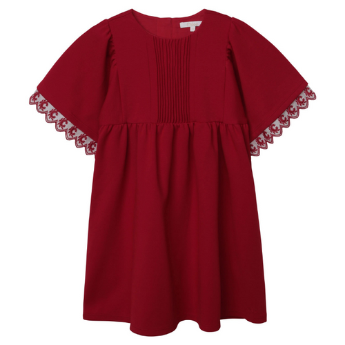 Red Chloé Pleated Dress