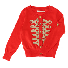 Load image into Gallery viewer, Red & Gold 'Milly' Cardigan