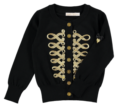Black & Gold 'Milly' Cardigan