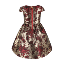 Load image into Gallery viewer, Gold & Red 'Noelle' Bow Dress