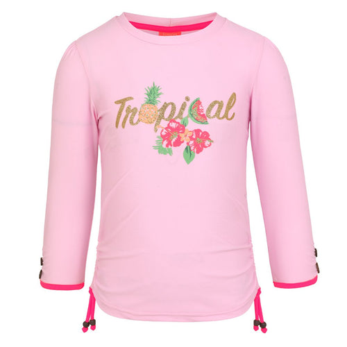 Pink Tropical Long Sleeved Rash Vest