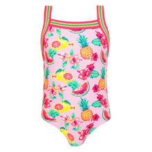 Load image into Gallery viewer, Pink Tropical Print  Swimsuit