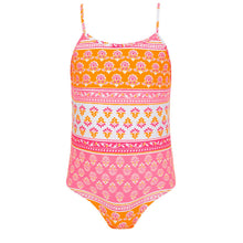 Load image into Gallery viewer, Orange & Pink Patterned Swimsuit