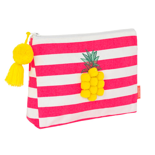 Pink Pineapple Wash Bag
