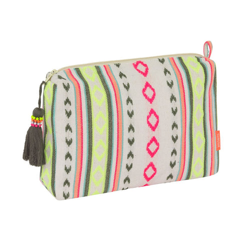 Multi Aztec Stripe Washbag