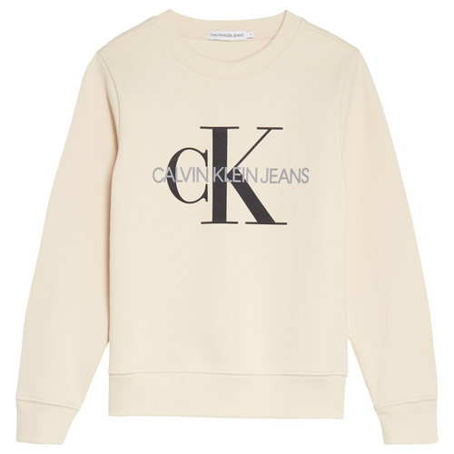 Beige CK Jeans Sweat Top