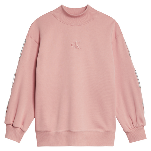Pink High Neck Sweat Top