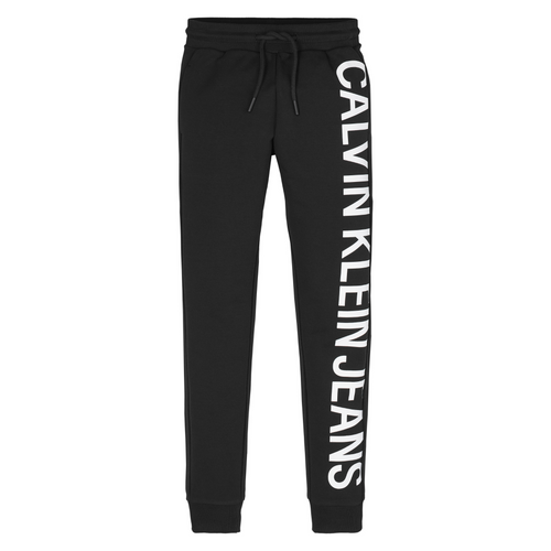 Black Logo Boys Sweat Bottoms