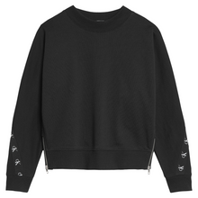 Load image into Gallery viewer, Black Zipper CK Sweat Top