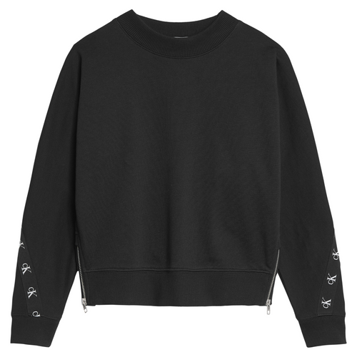 Black Zipper CK Sweat Top