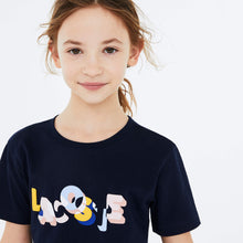 Load image into Gallery viewer, Girls Navy Lacoste T-Shirt