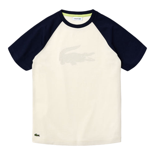Cream & Navy Logo T-Shirt